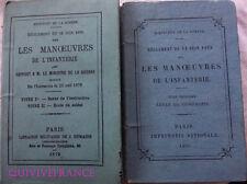 LES MANOEUVRES DE L'INFANTERIE 1875