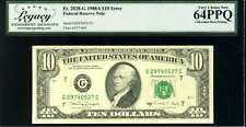 1988A $10 Federal Reserve Note Error Fr.2028-G Very Choice New 64PPQ #G29740527C