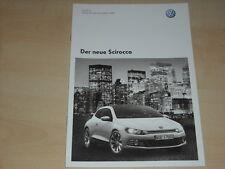 47657) VW Scirocco Preise & Extras Prospekt 06/2008