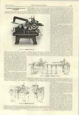 1915 Machinery For Production Of Projectiles E.G. Herbert Rapid Saw
