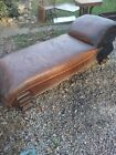 Solid Oak Antique 1890's Fainting Couch. Very sturdy!
