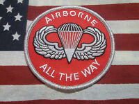 US ARMY AIRBORNE ALL THE WAY PARACHUTE POCKET PATCH M/E