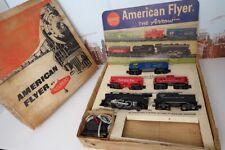 Vintage American Flyer S No.20605 Steam Engine & Freight Car Set  W/ Display Box