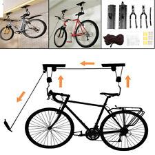 Bike Ceiling Hanger Lift Bicycle Storage Wall Mount Hook Roof Pulley Hoist Hang~