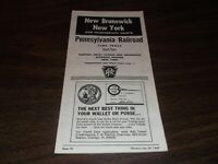 JULY 1967 PRR PENNSYLVANIA RAILROAD FORM 72 NEW BRUNSWICK, NJ  PUBLIC TIMETABLE