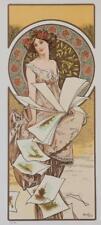 Alphonse Mucha Champenois Calendar Limited Edition Lithograph COA S2 Art