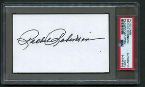 Rachel Robinson signed autograph auto 3x5 card Jackie Robinson's Wife PSA Slab