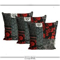 """LARGE BLACK CUSHIONS WITH INNERS  24""""X24"""" EACH   SET OF 2"""