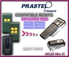 PRASTEL MPSTF2E / MPSTF3E / MPSTF4E compatible télécommande / Cloner 433,92Mhz