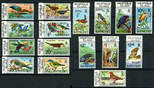 St.Vincent Bird Stamps w/ Mustique Is Printed in Selvedge 1970 Scott # 279 - 294