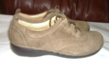 CLARKS Unstructured Brown Leather Lace-Up Oxford Shoes womens sz 6M