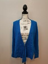 Anne Klein Casual Long Sleeve Sweater Cardigan Blue Women's Size Medium New