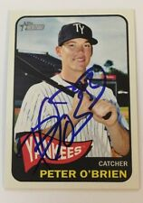 PETER O'BRIEN 2014 TOPPS HERITAGE AUTOGRAPHED SIGNED AUTO BASEBALL CARD 183 YANK