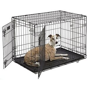 MidWest Dog Crate Single Double Door Folding Metal Small Medium Size Dog