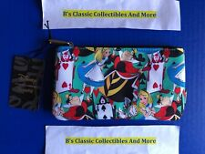 Loungefly Alice in Wonderland Zip Pouch Cards Print, Cosmetic/Coin Bag New!