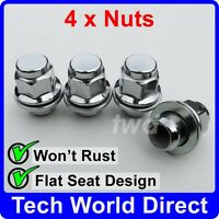 ALLOY WHEEL NUTS - TOYOTA YARIS X4 CHROME LUG BOLT STUD SCREW TOP QUALITY [A10]