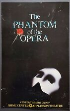 PHANTOM OF THE OPERA Original Promo Poster 1988 Ahmanson Theatre Les Miserables