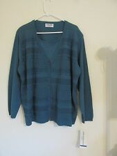 NEW WITH TAGS WOMEN'S ALFRED DUNNER BLUE CARDIGAN STYLE SWEATER PLUS SIZE 3X