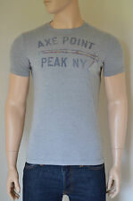 NUOVO ABERCROMBIE & FITCH Beaver Point AXE Peak Grigio TEE T-SHIRT M