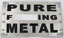 BELT BUCKLES men's western XXX USA accessories PURE F***ING METAL buckle NWOT!