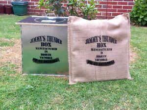 JIMMY'S THUNDERBOX  CAMP TOILET  BLACK MDF SEAT