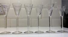 Liquer Shot Sherry Small Glasses Individual Handmade x6