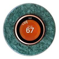Nest Thermostat Natural Marble Wall Plate Cover/Base for E/3/2/1 Gen Green