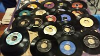 "Lot of 50 -  Soul, Blues, Black Artists 45 RPM 7"" Records 50's-80's"