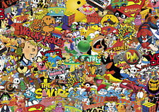 80's colour STICKERBOMB SHEET-X1 - 1m x 1.5m (EURO/DRIFT/JDM/CARTOON/vinyl wrap)