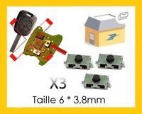 3 Switch bouton Clé télécommande Plip Peugeot 206 307 406 Citroen Xsara C3 C4