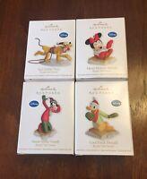 2012 Hallmark Keepsake Disney Ornament Lot (Mikey,Minnie,Pluto,Donald,Goofy)
