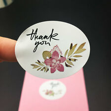 "4 Flower ""thank you"" sealing sticker baking package cake box decoration 120pcs"