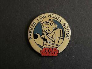 VINTAGE Star Wars 1997 Stormtrooper FREEZE YOU REBEL SCUM! RARE HTF Disney Pin 0