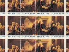 1976 Declaration of Independence Sheet of 50 US 13c Stamps 1691-1694 MNH