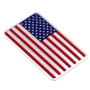 3D Alloy Metal US USA The United States American Flag Sticker Badge Emblem