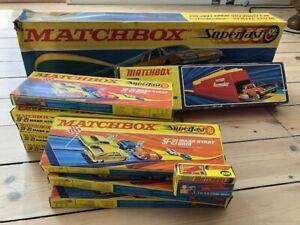 Vintage Matchbox Superfast racetrack lot NOS