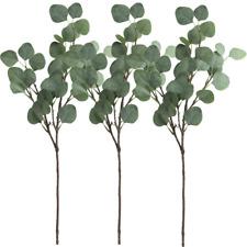 Supla 3 Pcs Artificial Silver Dollar Eucalyptus Leaf Spray In Green 25.5