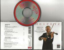 HEIFETZ Bruch & Vieuxtemps Violin Concertos cd RCA Red Seal 1987 remastered rare