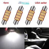 4X Pure White 39MM Festoon 16SMD Led Interior Car Map Dome License Lights Bulbs