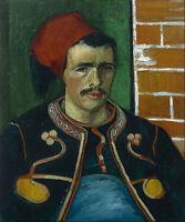 Vincent van Gogh - The Zouave Painitng Canvas Print wall home Decor