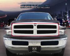 99-01 Dodge Ram Sport Billet Black Grille Grill Upper Insert 4 Pcs Fedar