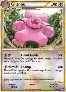 CALL OF LEGENDS POKEMON RARE CARD - GRANBULL 26/95