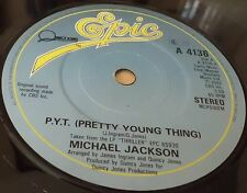 """MICHAEL JACKSON P.Y.T. PRETTY YOUNG THING 7"""" VINYL COMBINED POSTAGE"""