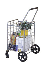 Wellmax Wm99024S Grocery Utility Shopping Cart, Easily Collapsible and Portable