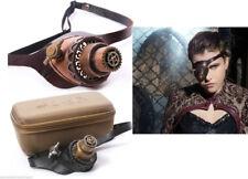 RQ-BL Steampunk  Leder Monokel Brille Goggles Leather Gothic SP103 Bronze WGT