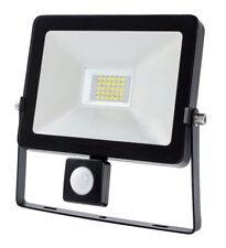 PIR LED Flood Light 30W Black Body Replacement for 300w Halogen Security Light