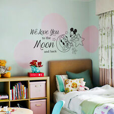Mickey Minnie Baby Sleep Wall Stickers Art Girls Boys Kids Room Removable Decals