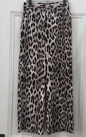 Decjuba Leopard Wide Leg Pants Size S  8-10 Excellent Condition Pockets