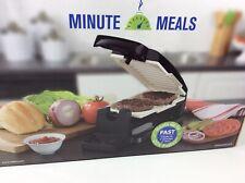 New listing Oster - Minute Meals Vertical Flip Indoor Grill - Black Nib