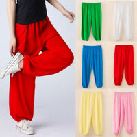 Boys Girls Harem Ali Baba Trousers Costume Play Pants Kids Children Baggy Loose